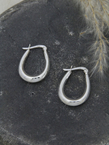 Things I Like Things I Love Chunky Oval Hoop Small 25mm