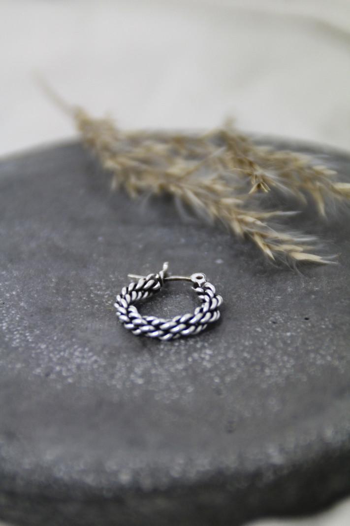 Braided Silver Hoop 10mm