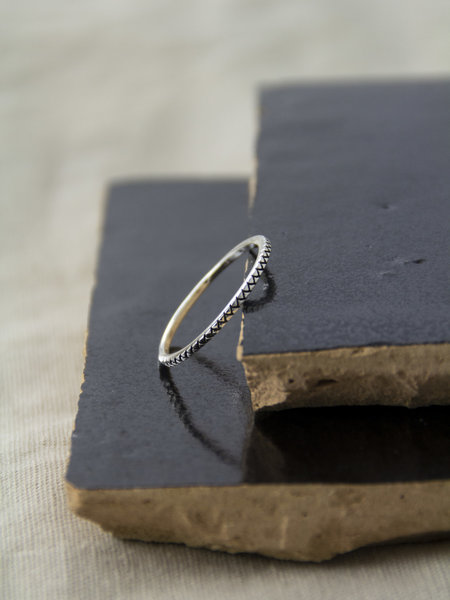 Things I Like Things I Love Zigzag Silver Ring