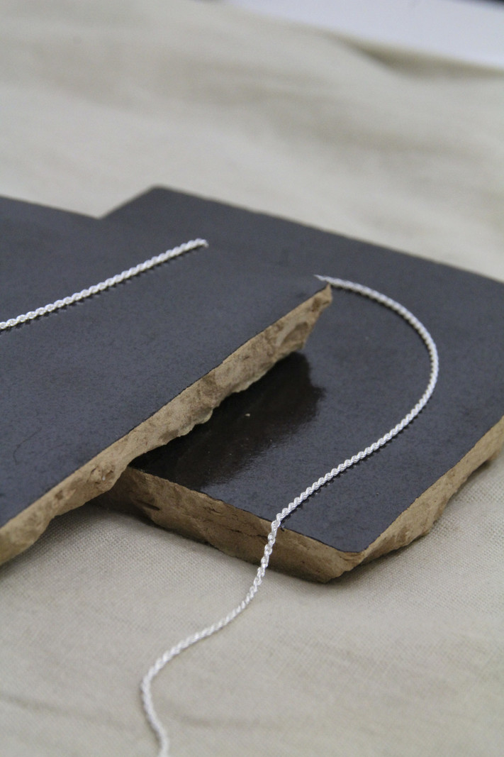 Twisted Thin Silver Necklace