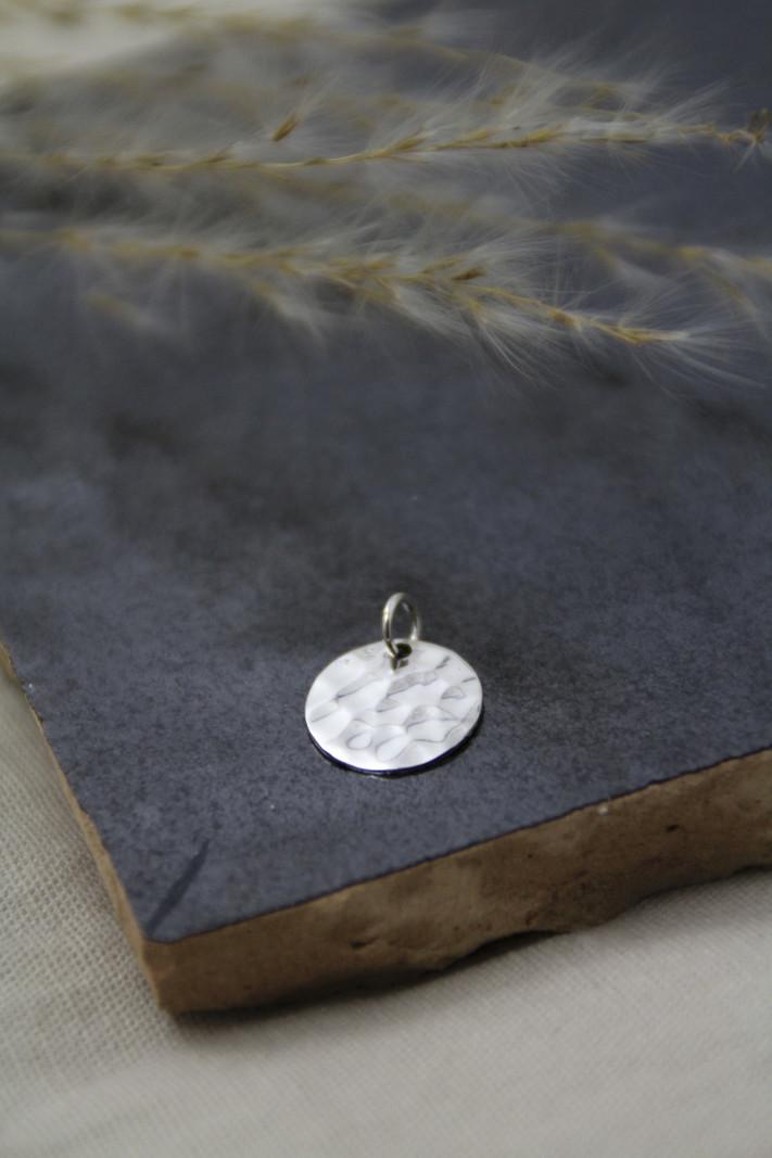 Hammerd Round Silver Charm