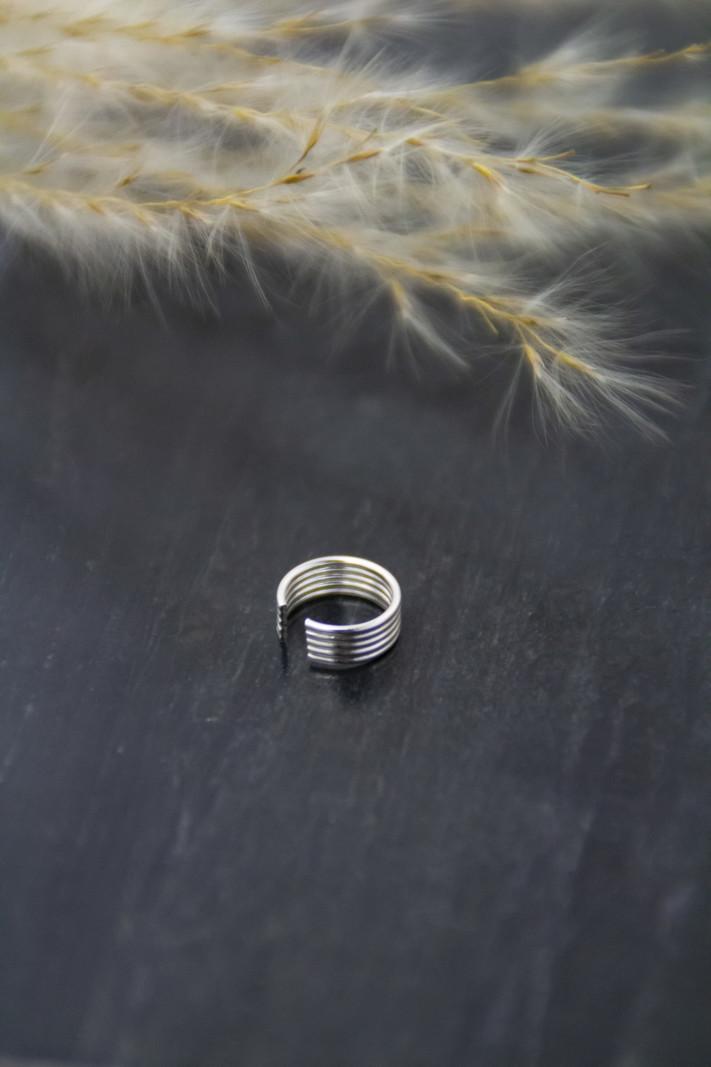 Silver Earcuff Five
