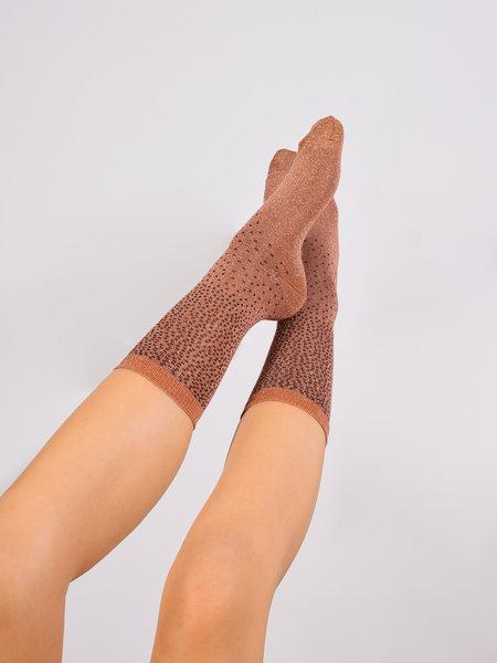 MP Denmark Glitter Socks Rust Dot