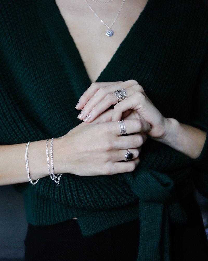 Double Eye Silver Bracelet