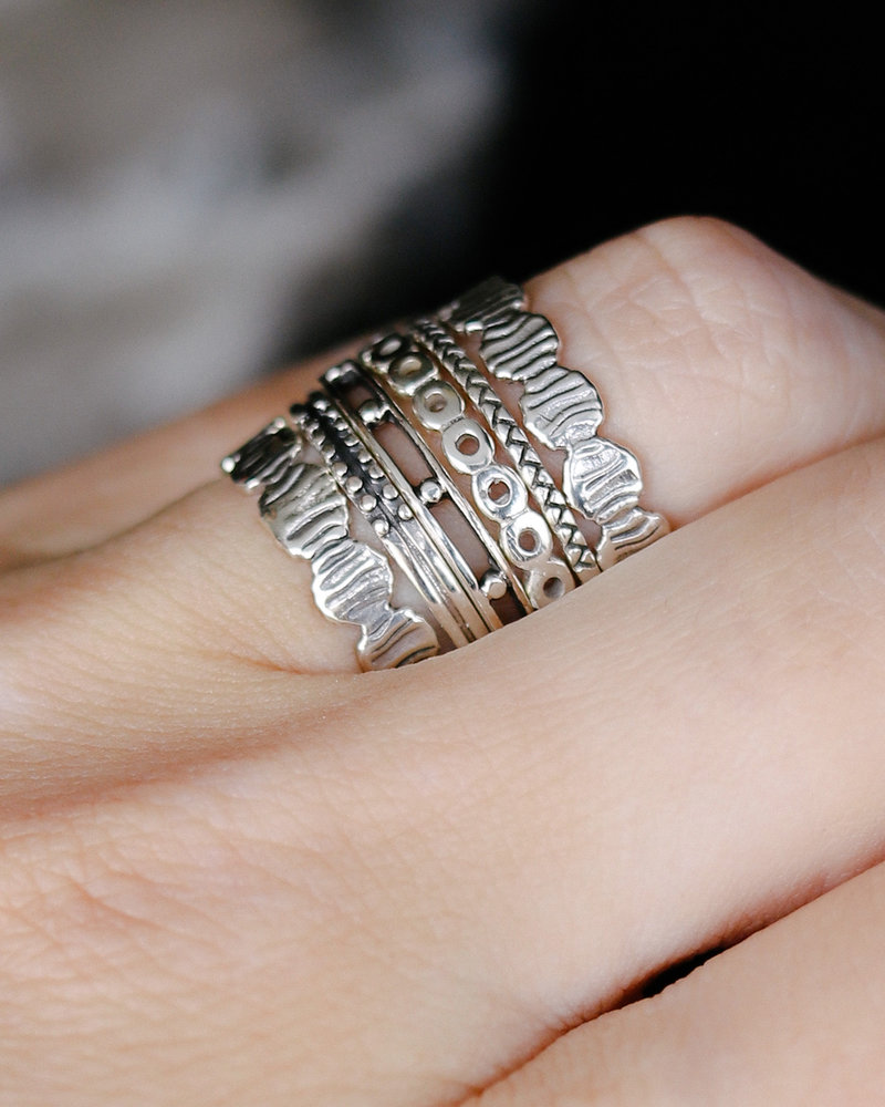 Five Dot Silver Ring