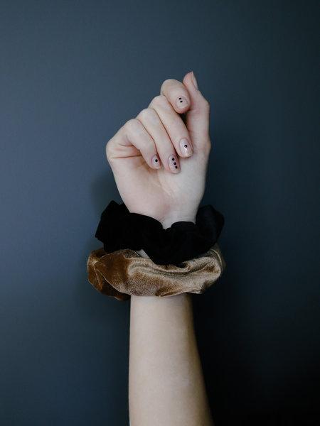 Yehwang Scrunchie Set Black Brown