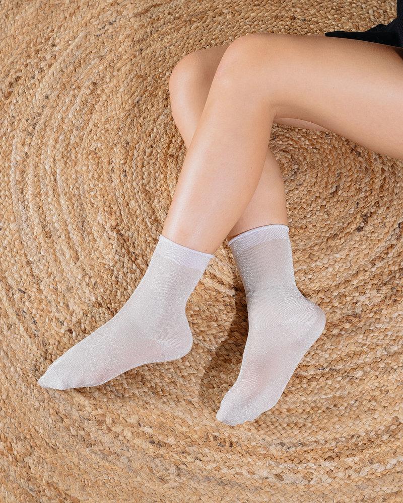 Glitter Socks Silver