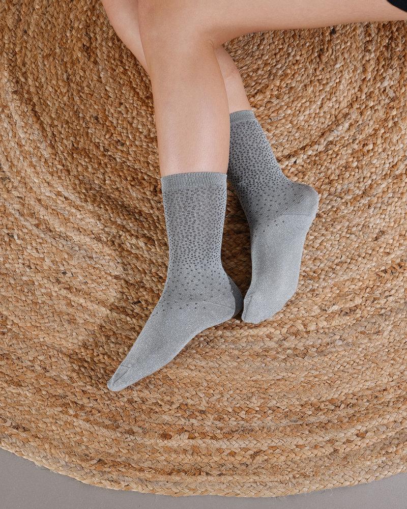 MP Glitter Socks Mint Dots