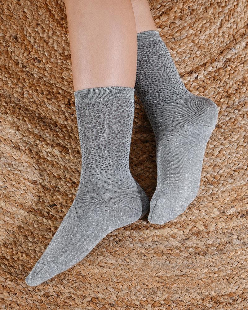 Glitter Socks Mint Dots