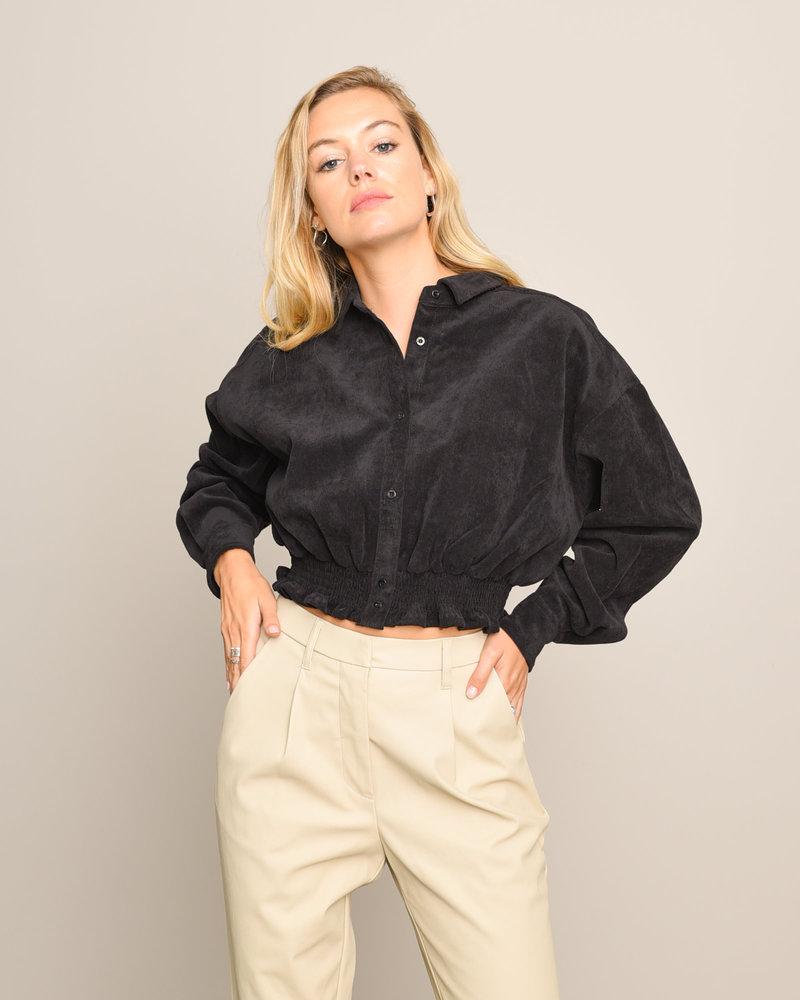 Mick Crop Shirt Black