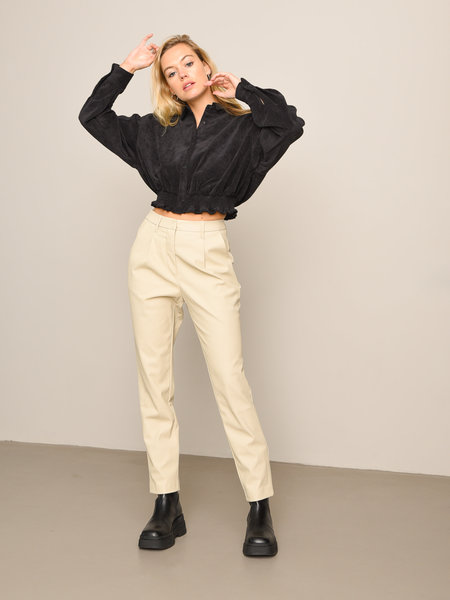 NAKD Tapered PU Pants Beige