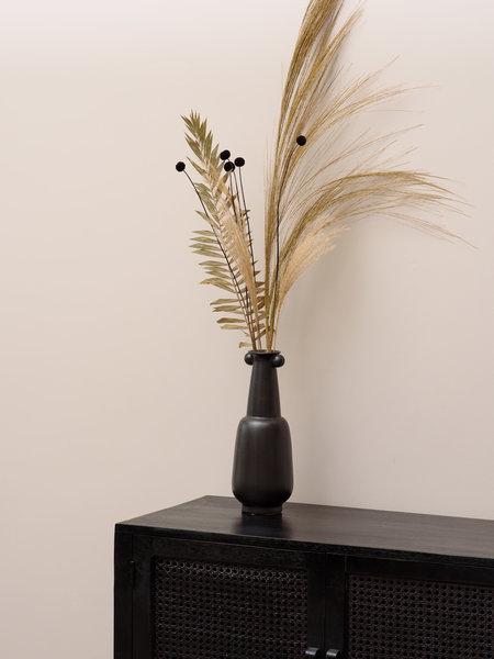 Vase Black High Bowl Ears