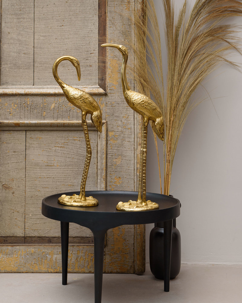 Big Crane Birds Gold