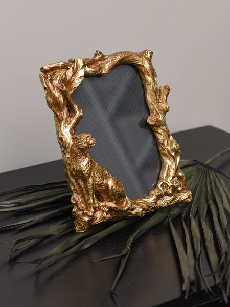 Photo Frame Leopard Gold