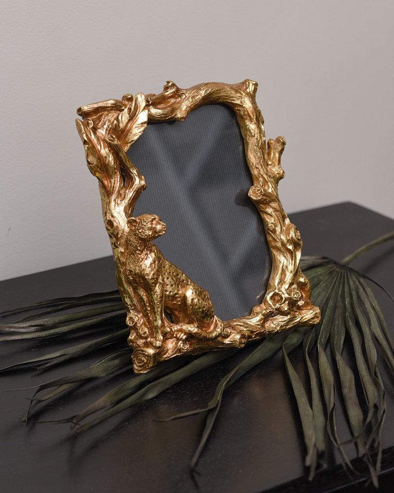 Photo Frame Leopard Gold