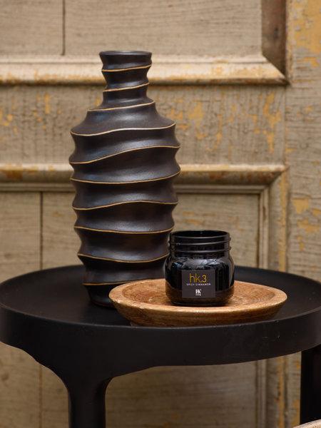 Vase Black Swirl