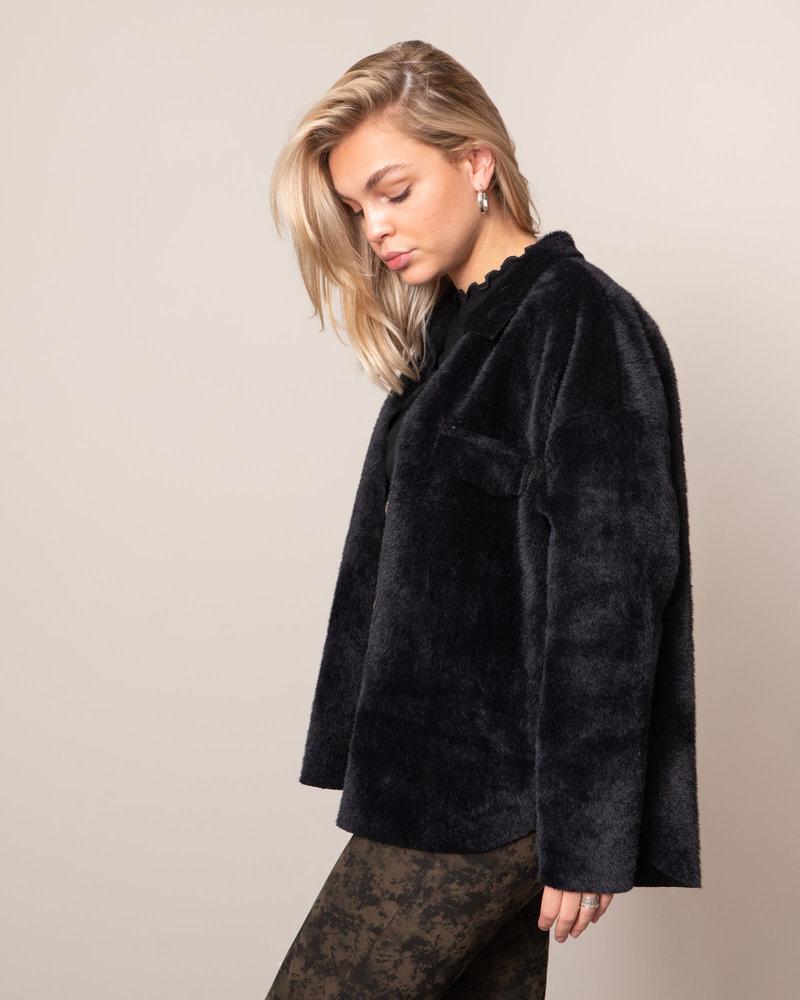 Fluffy Blouse Black