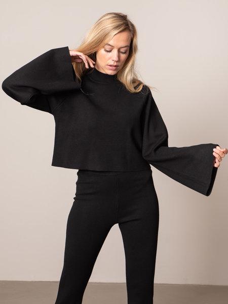 NAKD Cropped Lounge Sweater Black