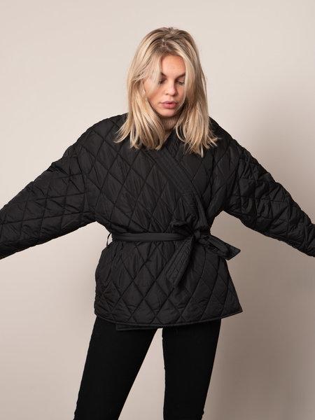 NAKD Quilted Kimono Jacket Black