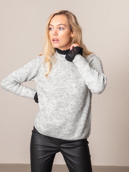 YAS Allu O-neck Knit Pullover LGM