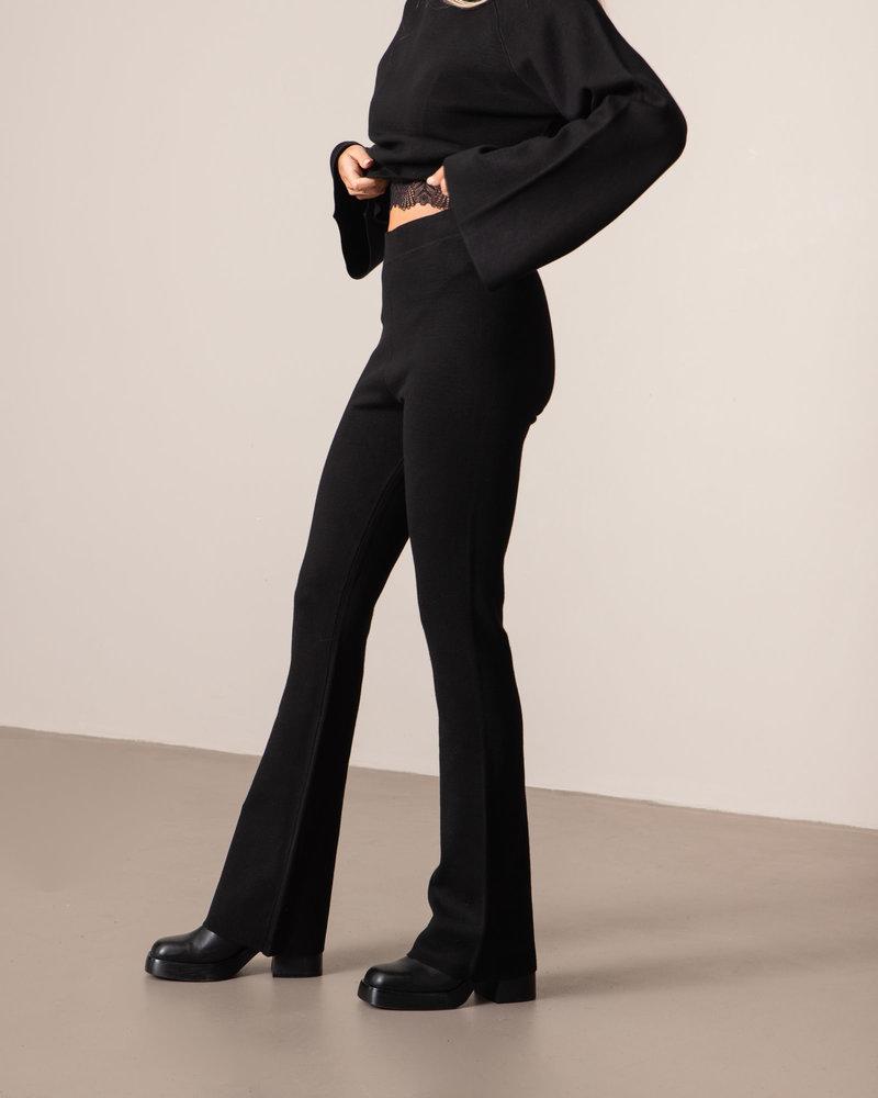 Flared Lounge Pants Black