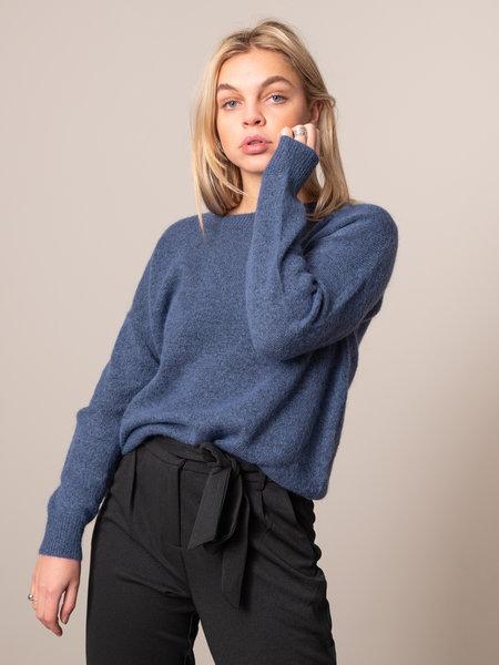 MSCH Femme Mohair O Pullover Gray Blue