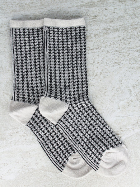MP Denmark Glitter Socks Houndstooth