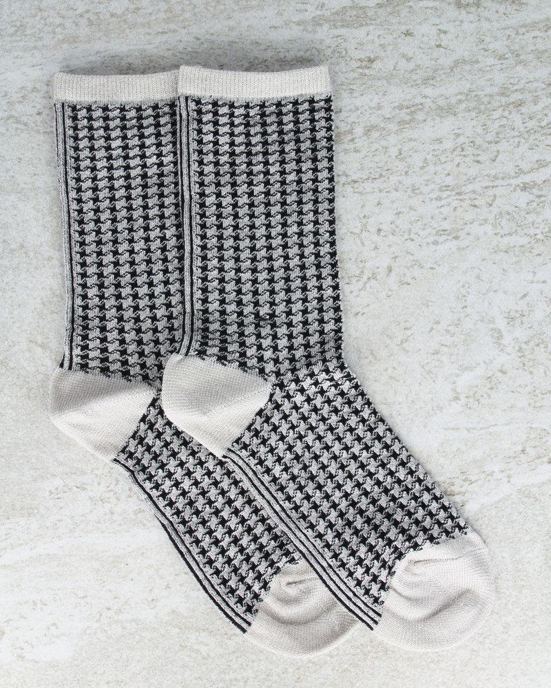 MP Glitter Socks Houndstooth