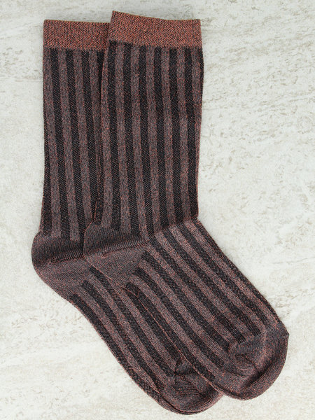 MP Denmark Glitter Socks Copper Striped