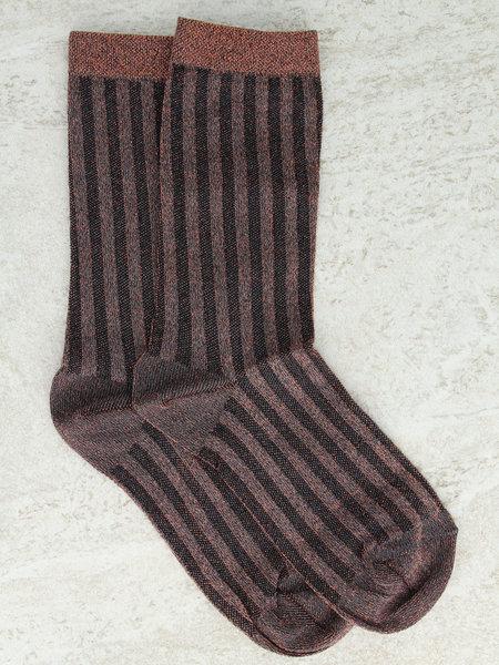 MP Denmark MP Glitter Socks Copper Striped