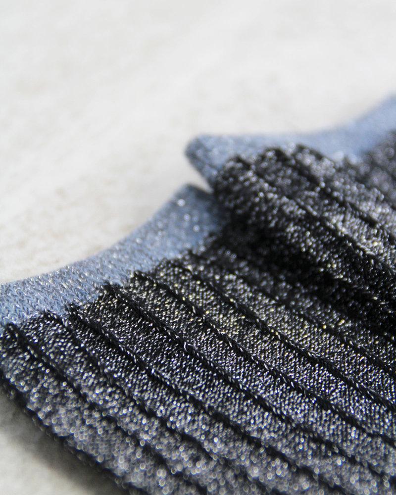 MP Glitter Socks Striped Silver