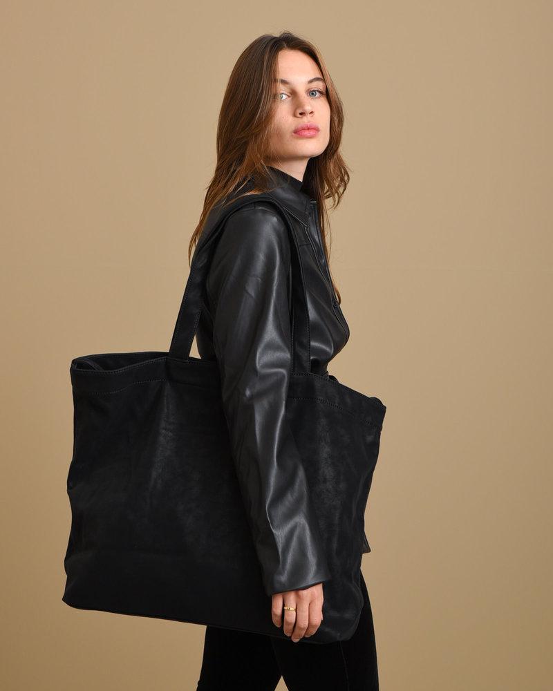 Suede Look Bag Black