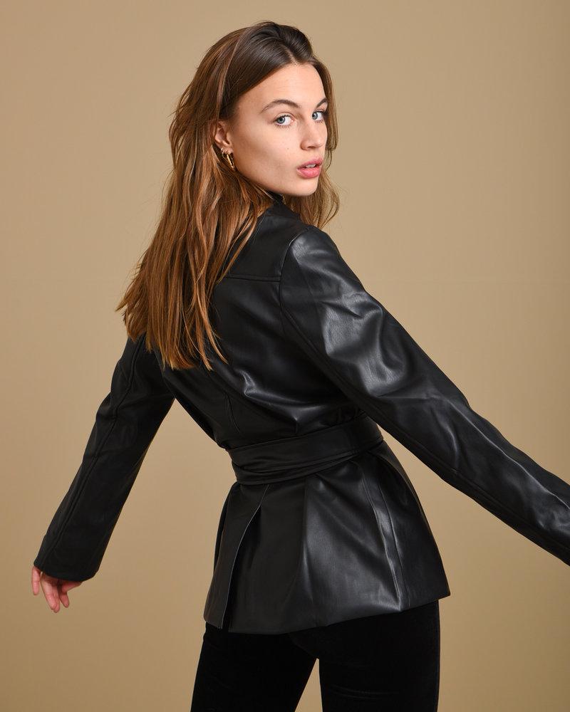 Petra PU Jacket Black