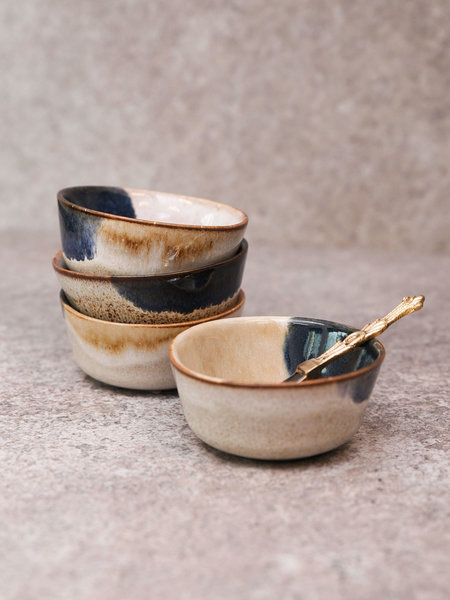 Mini Bowl Ocher Blue
