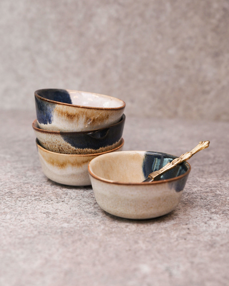 Small Bowl Ocher Blue