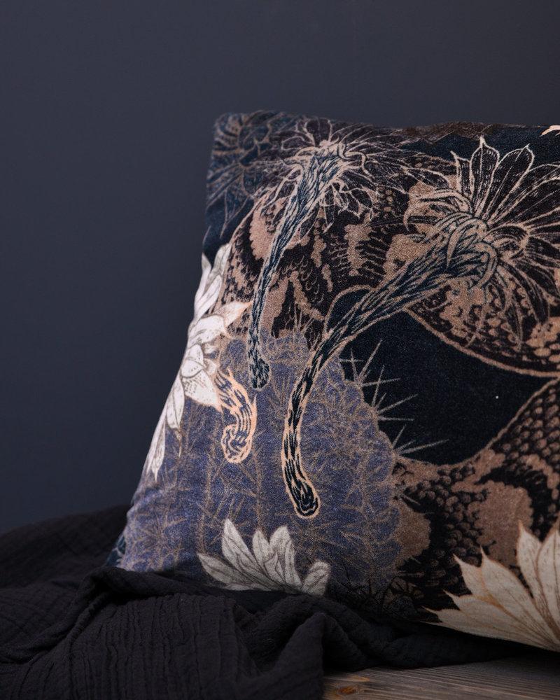 Cushion Snake Print Velvet