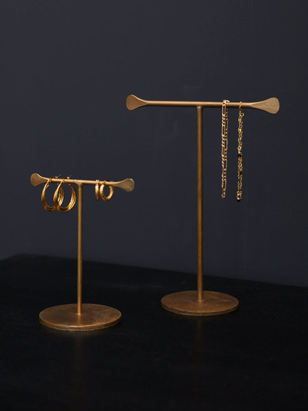 Madam Stoltz Jewelry Stand Brass