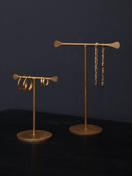 Madam Stoltz Jewelry Stand Brass