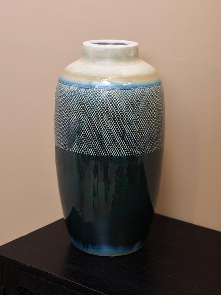 Big Vase Blue Cream