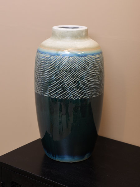 Vase Blue Cream Big