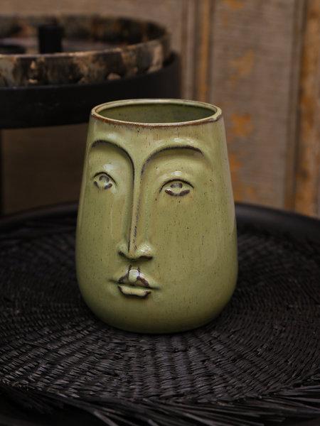Basik Vase Detail Green