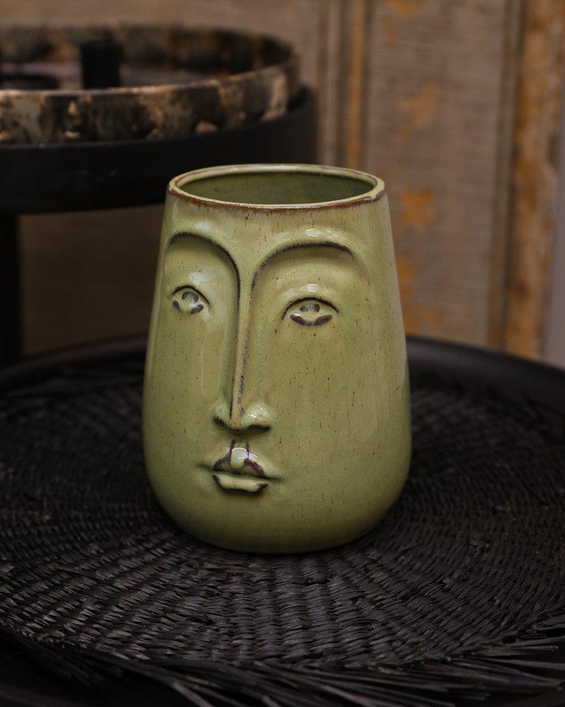 Vase Detail Green