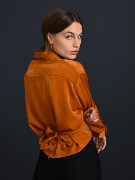 Things I Like Things I Love TILTIL Sonia Satin Blouse Rust