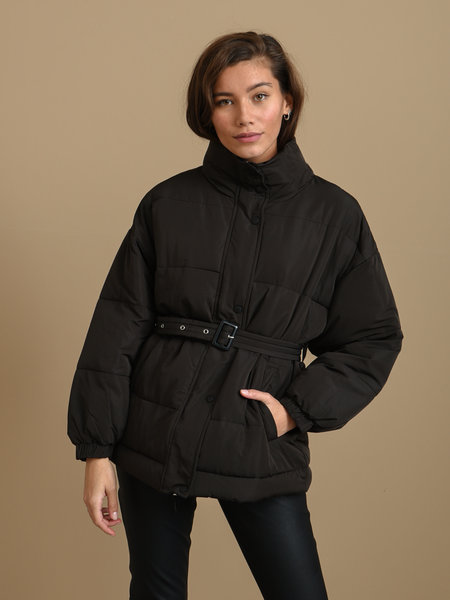 24Colours 24CO 90306b Puffer Jacket Black