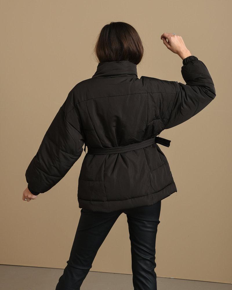24CO 90306b Puffer Jacket Black