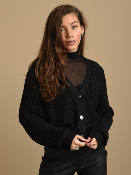 24Colours Knitted Cardigan Black