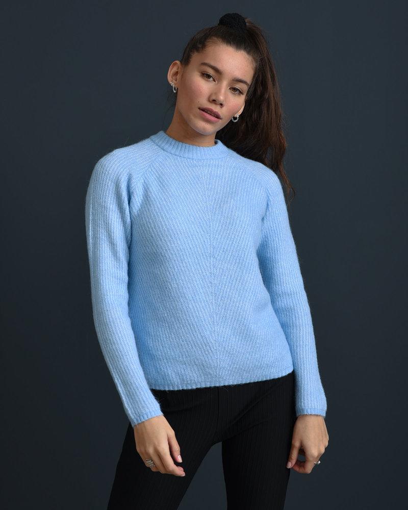 Allu Roll Neck Knit Pullover Powder Blue