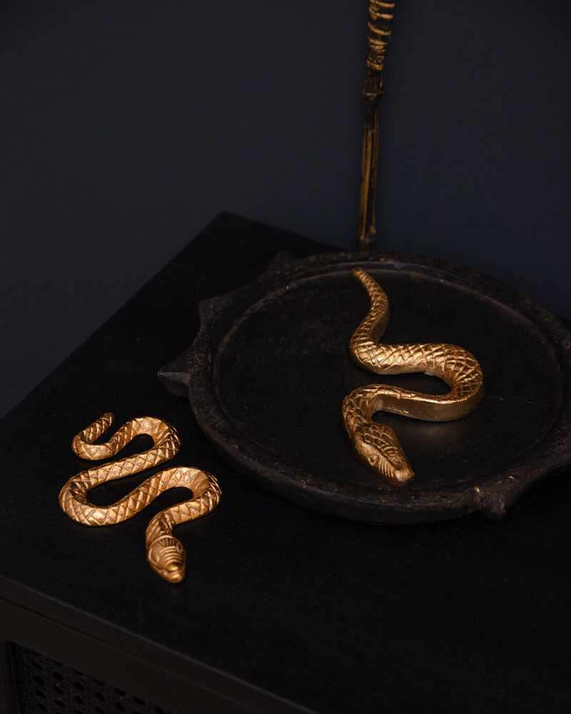 Snake Figure Brass