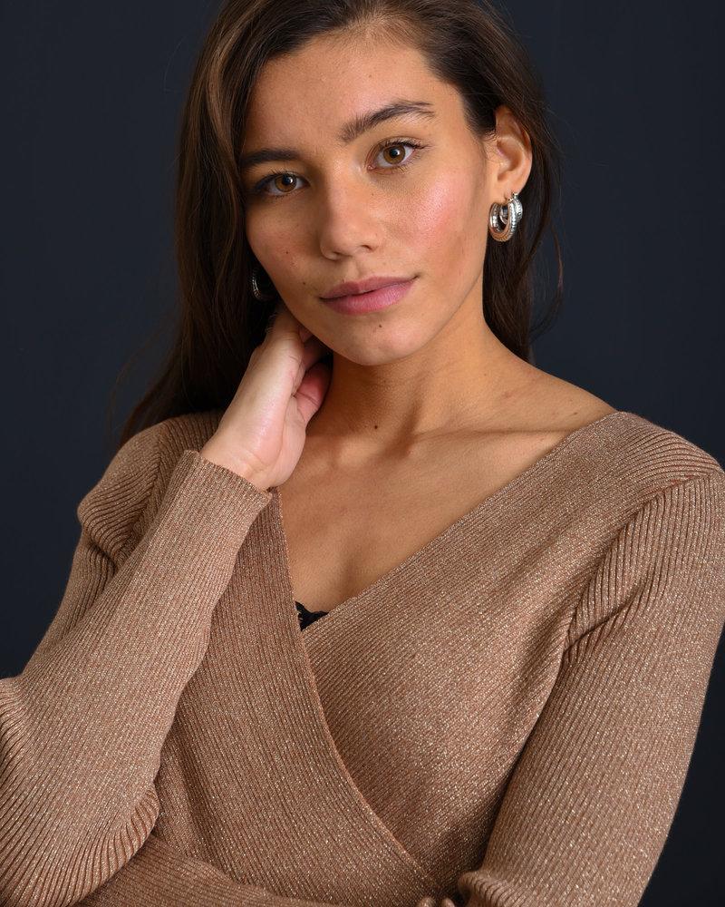 TILTIL Yara Glitter Knit Gold Onesize