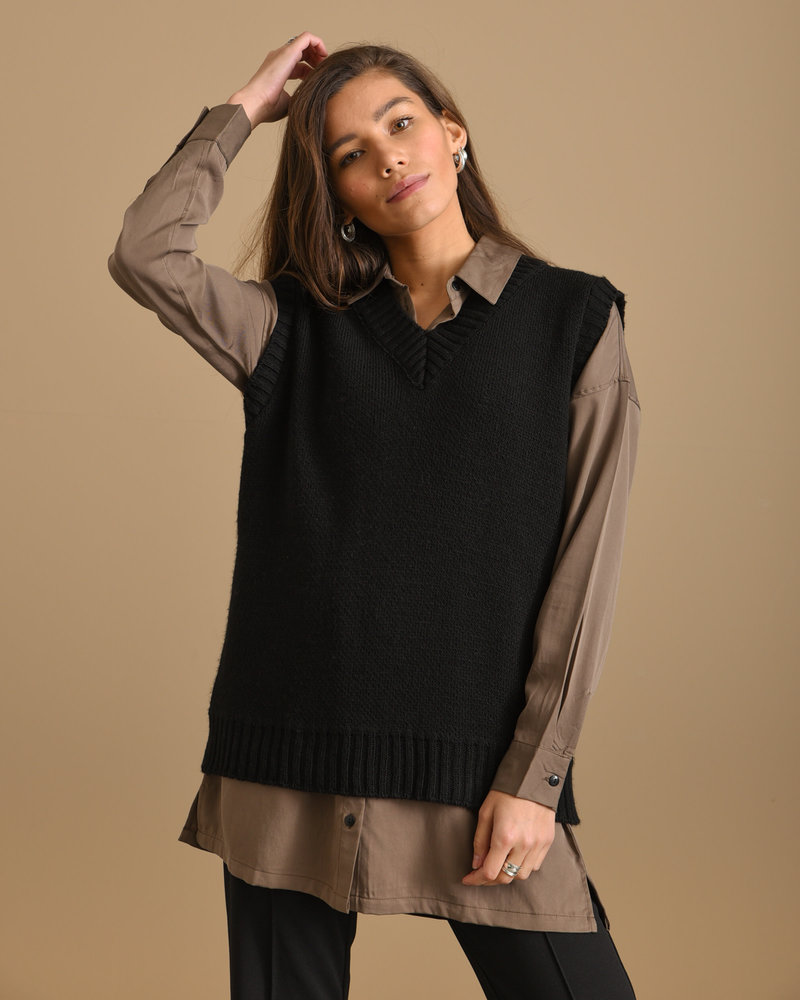 TILTIL Jody Blouse Brown